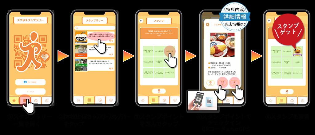 アプリ使い方_本牧かぼちゃまつり